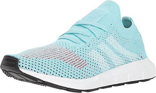 adidas Tenis casuales Swift Run Primeknit para mujer,, (Aguamarina transparente/blanco/negro.), 36 EU
