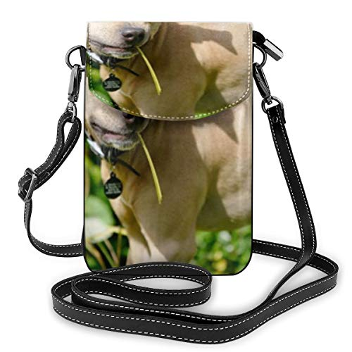 Leuke Dog-eat-grass Kleine Crossbody Tassen Crossbody Mobiele Telefoon Handtas - Vrouwen PU Lederen Handtas Met Verstelbare Band Voor Dagelijks Leven