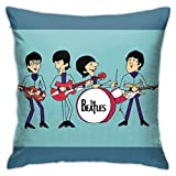 FZDB Pillow Cover The Beatles Portrait Pillow Case Square Cushion Cover for Sofa Couch Home Car Bedroom Living Room Decor 18' X 18'