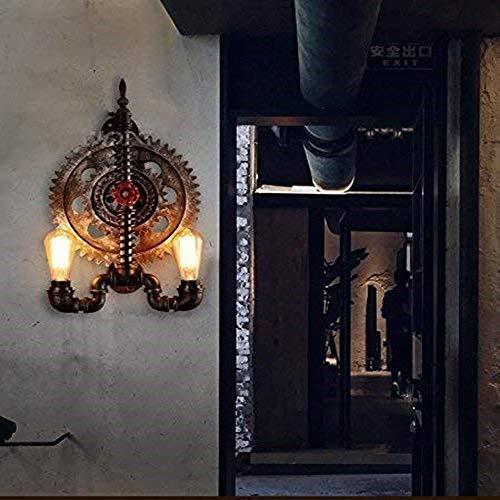 Tesysyet Viento Industrial Vintage/Lámpara De Pared/Tubo Lámpara De Engranajes/Café/Sala De Estar Creativa/Lámpara De Pared Lámpara De Pared