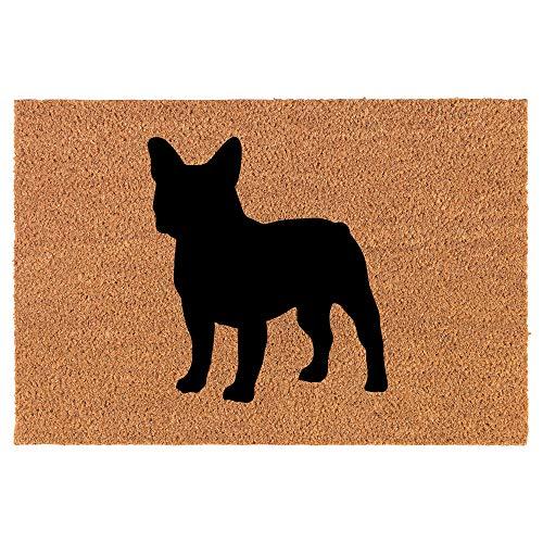Coir Doormat Front Door Mat New Home Closing Housewarming Gift French Bulldog (30' x 18' Standard)