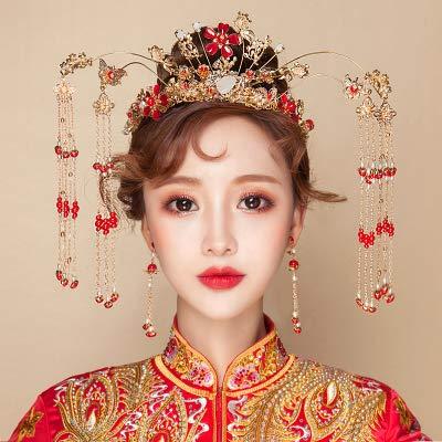don997gfoh08yewi Duizend kleuren, bruids tiara 2019 nieuwe kostuum Fengguan stap shake show Wo pak toast kleding Chinese haaraccessoires YarouYarou praktische versie