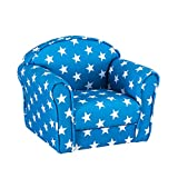 Panana Kids Children's Upholstered Armchairs Girl Boy Bedroom Playroom Seating Chair (Blue Star)