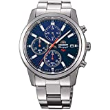 Orient Herren Chronograph Quarz Uhr mit Edelstahl Armband FKU00002D0