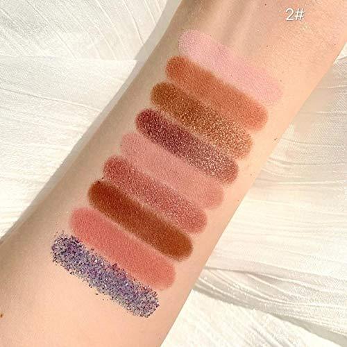 JSZWGC 1pcs Fard à paupières Mat Glitter Facile imperméable à Porter Pigment Perle Palette Ombres à paupières cosmétiques Fard à paupières (Color : 02)