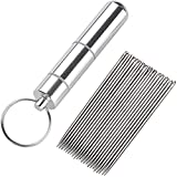 jky - 25 agujas de coser en un tubo de memoria transparente, 2 sets
