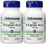 Life Extension Super R Lipoic Acid, 60 Capsules (2 Pack)