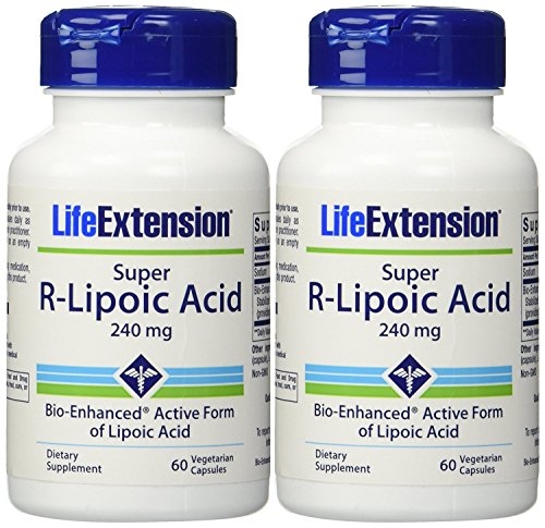 Life Extension Super R Lipoic Acid, 60 Capsules (2 Pack)