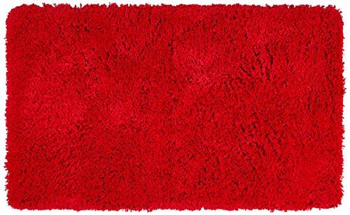 Kleine Wolke Badteppich, Rot, 70 x 120 cm