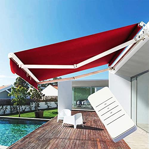 HBIAO Toldo de jardín retráctil con Control Remoto eléctrico para Patio de Bricolaje, protección Solar, Anti-UV e Impermeable para Patio, balcón, Restaurante,3 * 2m