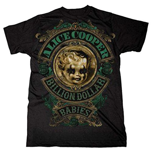 Alice Cooper Billion Dollar Babies Rock Oficial Camiseta para Hombre (Medium)