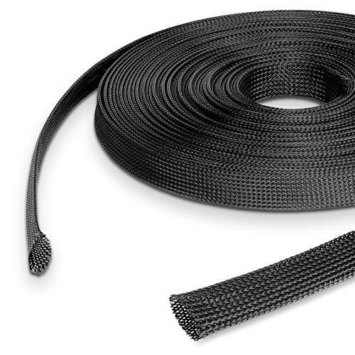 500 cm Gewebeschlauch 40 mm bis 70 mm dehnbar, Geflechtschlauch, flexibel und robust