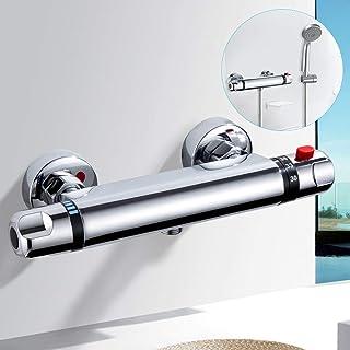 kisimixer Grifo Termostatico Ducha Termostático Ducha Grifos de Bañera Mezclador Termostático Ducha Moderno Cromo para Bañ...
