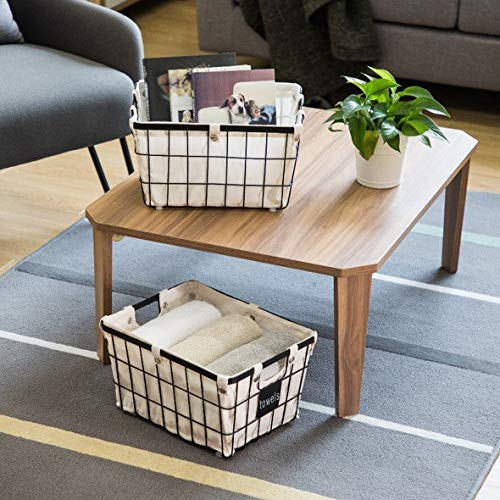 JN Better Homes & Gardens Medium Wire Basket with Chalkboard - 2 Pack - Small