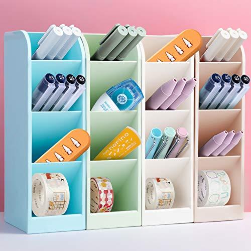 4Pcs lapiceros para escritorio,Organizador de escritorio,compartimentos Soporte para bolígrafo,Soporte para bolígrafo de Escritorio,Portalápices Multifuncional,Organizador de Pluma (A)