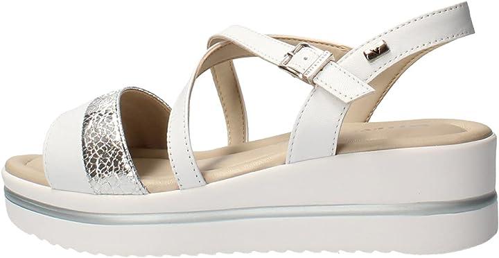 Sandalo donna valleverde 32320 in pelle beige o bianco o nero una calzatura adatta per tutte le occasioni B085GJH9WN
