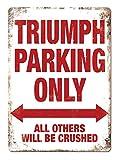 Lorenzo Triumph Parking ONLY Vintage Metall Eisen Malerei
