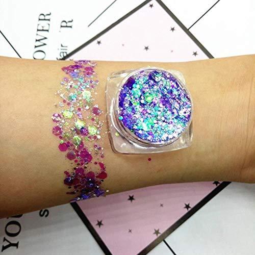 QINQ 30g 18 Couleurs Glitter Shimmer Fard À Paupières Visage Corps Oeil Bijoux Pigment Sequin Brillant Longue Durée Étanche Maquillage Outils, 13
