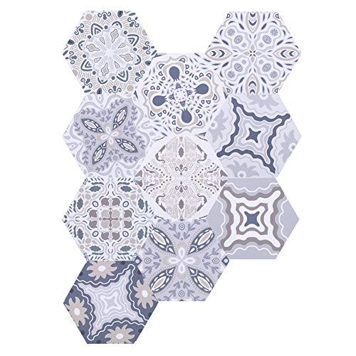 Pegatinas de azulejos, PVC Hecho 11.5x20x23cm Piso de distanciamiento social para cuartos de baño