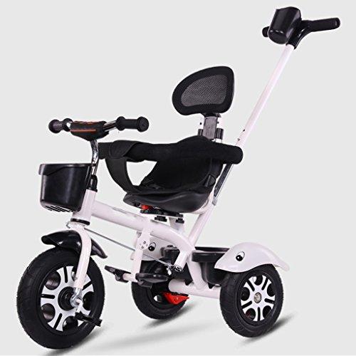 &Carro plegable Bicicleta de triciclo para niños 3-6 años de edad silla de paseo cochecito de bebé ligero (Color : 1#)