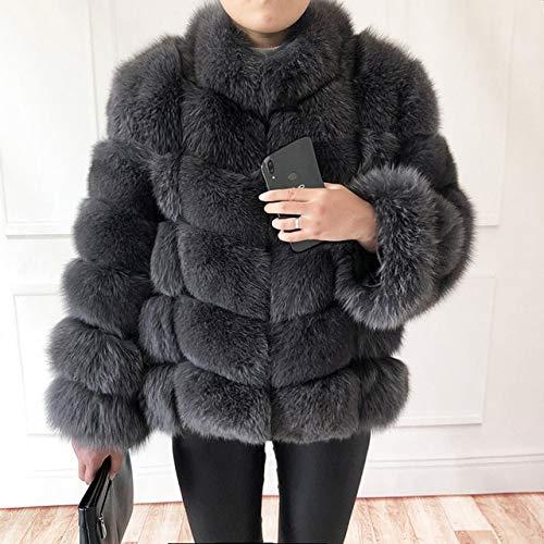 JIANYUXIN Abrigo Abrigo De Piel Mujer Chaleco De Cuero Natural Chaqueta De Cuero Abrigo De Cuero Cuello Alto Abrigo De Cuero De Manga Larga