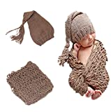 Amorar Neugeborenes Baby Hut und Wrap Fotografie Foto Requisiten handgemachte Weich DIY Matte,EINWEG Verpackung