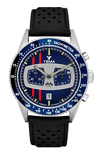 Yema Rallygraf Chrono-Uhr, Blau/Schwarz