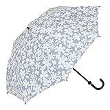 リーベン 日傘 晴雨兼用 レディース 折りたたみ傘 紫外線 遮熱 遮光 【LIEBEN-0552】 (花柄ブルー)