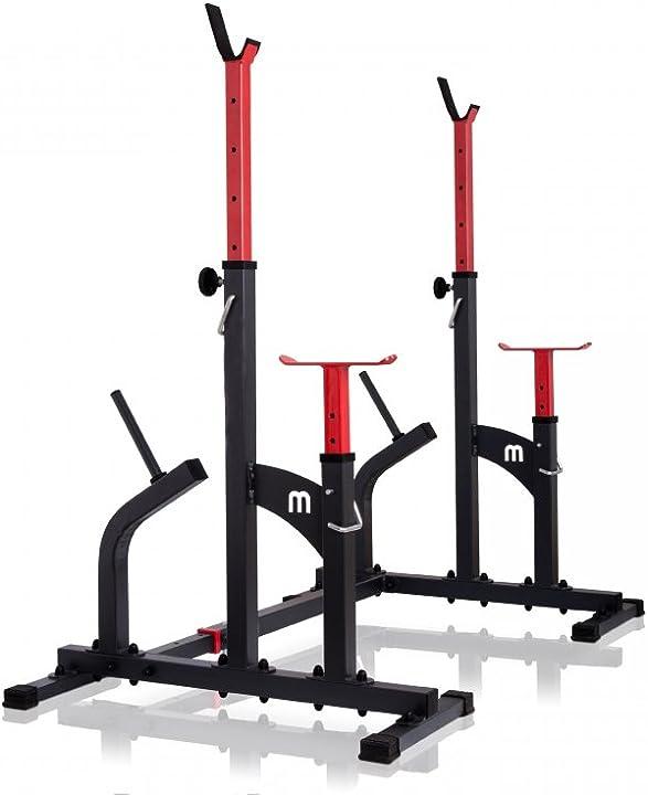 Squat rack rastrelliera per manubri regolabile per manubri ms-s104 marbo sport