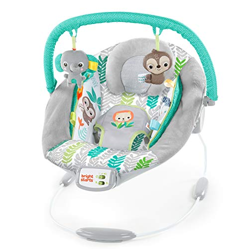 Bright Starts Cradling Bouncer Seat with Vibration & Melodies -Jungle Vines