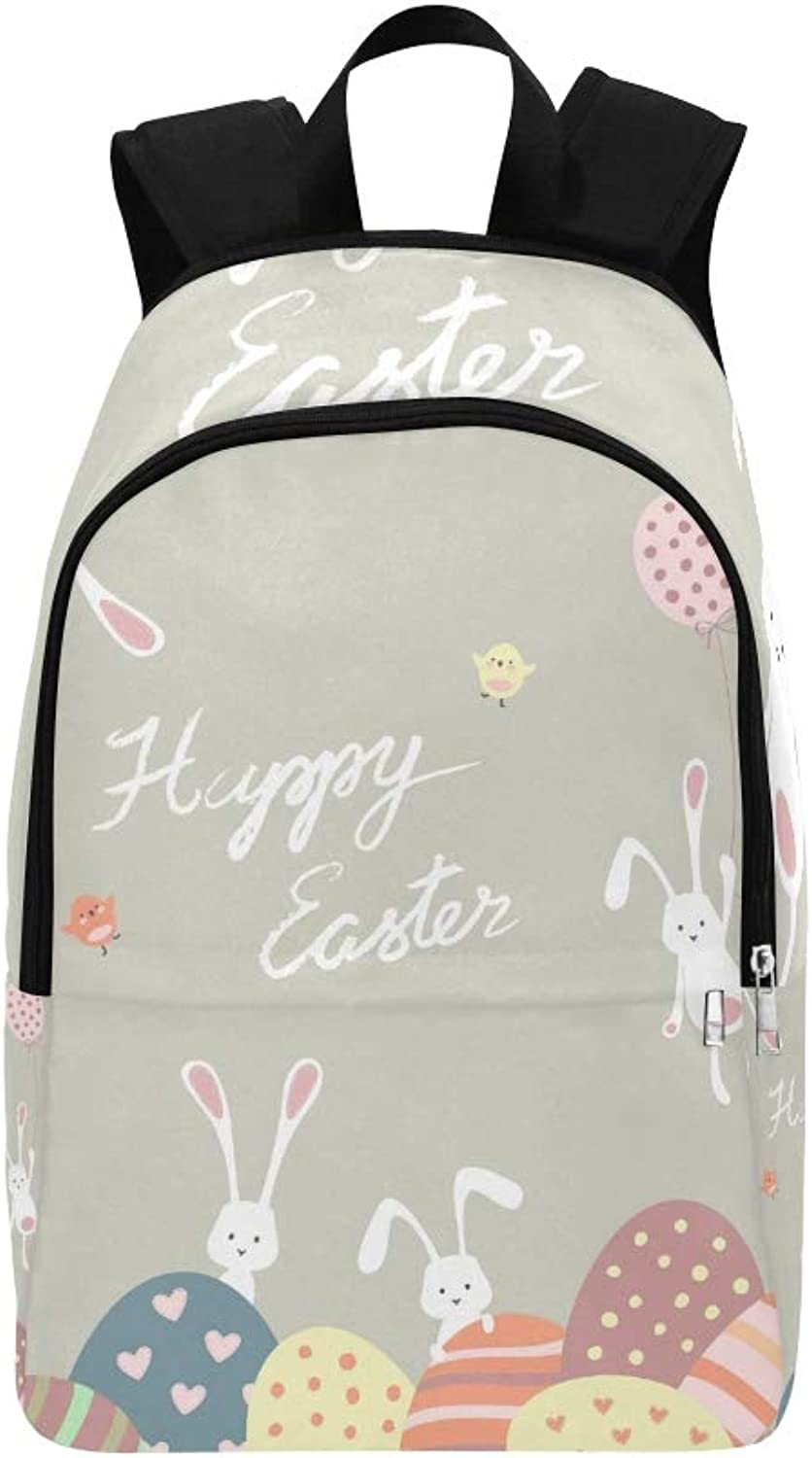 Easter Bunnies Easter Eggs Casual Daypack Travel Bag College School Backpack for Mens and Women