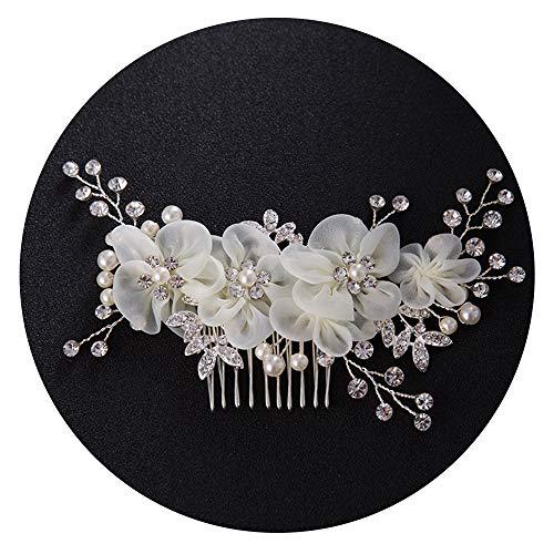 Braut Kopfstück Handarbeit Eleganter Retro elegant Damen Blumen Braut Kamm Perlen Strass Hochzeit...
