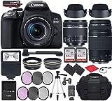 Canon EOS 850D (T8i) DSLR Camera with EF-S 18-55mm f/4-5.6 is STM, EF 75-300mm f/4-5.6 III Lens Bundle, Travel Kit Accessories (Gadget Bag, Extra Battery, Digital Slave Flash, 128Gb Memory + More)