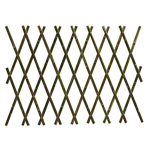Makluce Bamboo Fence, Hand-made Telescopic Outdoor Home Garden Vegetable Garden Courtyard Bamboo Fence Fence (40CM180CM)