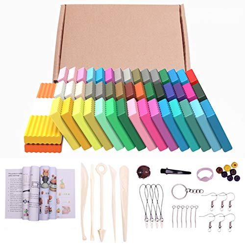 somubi 24/50 colores arcilla de polímero DIY molde suave artesanía horno hornear bloques de arcilla para regalo de cumpleaños para niños adultos