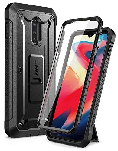 SupCase OnePlus 7 / 6T Hülle 360 Grad Schutzhülle [Unicorn Beetle Pro] Robust Handyhülle Bumper Case Cover mit Integriertem Displayschutz für OnePlus 7/ 6T (Schwarz)