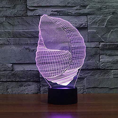 Model schelp lamp optische illusie lamp LED sfeerlicht 3D lamp acryl lamp 7 kleuren optische tonen
