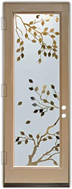 Glass Front Entry Door Sans Soucie Art Glass Cherry Tree