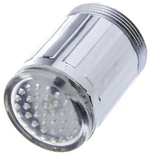 1 X dizauL® bunte LED Wasserhahn Leuchtender LED Licht Wasserhahn mit Temperatursensor Farben(Grün/Rot/Blau),Wasser-Strom-Hahn 3 Farben durch Wasserdruck (bunten LED Wasserhahnfilter) - 5