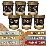 Grillgold Räuchermehl-Set Nr. 3 mit Räuchermehl Wood Smoking Dust. 6 Metall-Eimer befüllt zu je 2 Liter Kirsche, Buche, Ahorn, Esche, Birke und Erle zum räuchern und kalträuchern