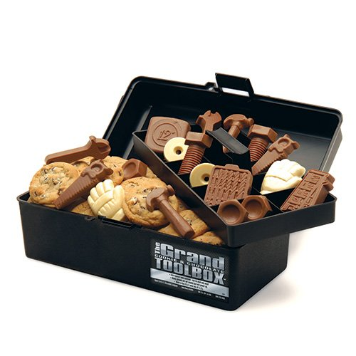 The Grand Cookie and Chocolate filled Toolbox Fresh Baked Cookies and Chocolate Tools by Apple Cookie & Chocolate Co.