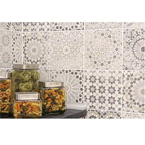 Casa Moro Marokkanische Patchwork Fliesen Mix Arabesque 18,7x18,7 cm 1m² als Wandfliese & Bodenfliese | Orientalische Fliese aus Feinsteinzeug für schöne Küche Flur Bad & Küchenrückwand | FL5000
