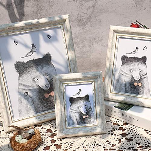 A3 / A4 / Marco De Fotos Rectangular/Se Puede Colocar/Se Puede Colgar En La Pared/Plexiglás/Marco De Espejo Decorativo para Sala De Estar Y Dormitorio 4x6 Inch(10.2x15.2cm)