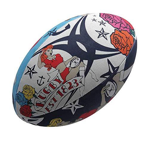 Gilbert Random - Pelota de Rugby (Talla 5), Color Multicolor ...