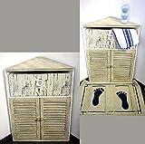 GeKi Trend - Juego de 2 armarios esquineros pequeños, cómodas, de madera, estilo rústico, vintage, muebles de baño, decoración de salón, dormitorio, mesita de noche