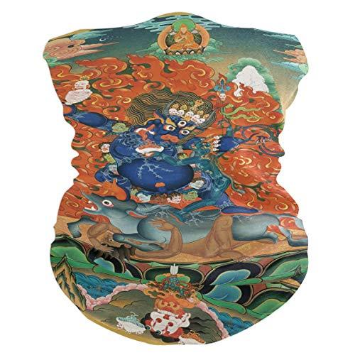 All3DPrint Bandana tibetana budista Thangka al aire libre mgica mscara facial elstica sin costuras, bufanda deportiva