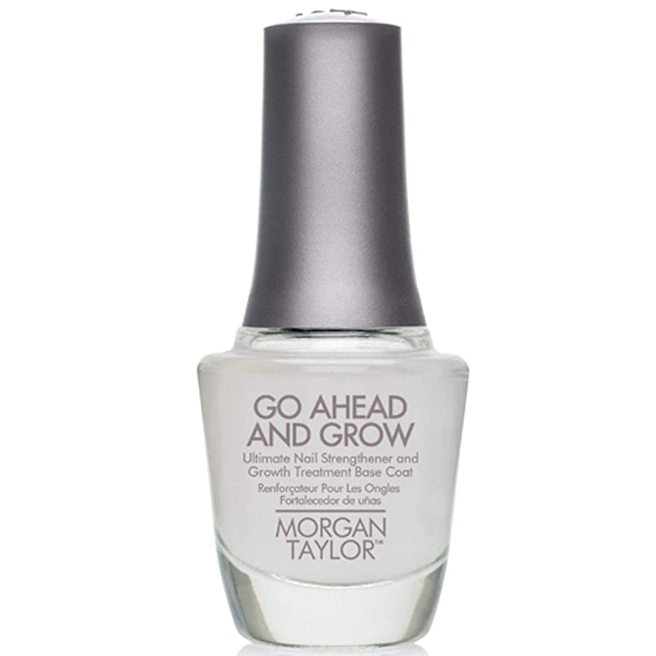 五月支配的挨拶Morgan Taylor - Go Ahead And Grow - Fortifying Nail Treatment Base Coat - 15 mL / 0.5oz
