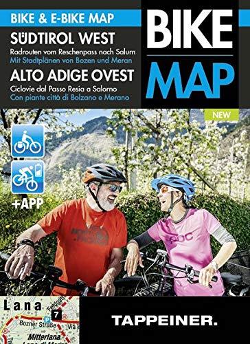 Südtirol West: Radrouten vom Reschenpass nach Salurn: Alto Adige Ovest Ciclovie dal Passo Resia a Salorno (Radwanderkarte) (Radwanderkarte: Cartina pista ciclabili e escursionistica)