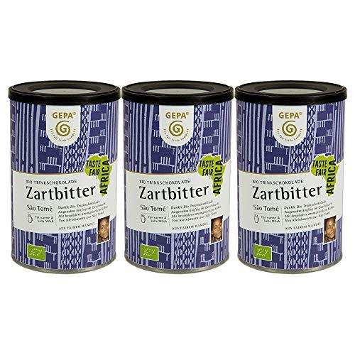 GEPA - Bio Trinkschokolade Zartbitter, 3er Pack