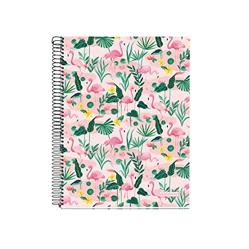 Miquel Rius 46009 Cuaderno A5 140 Cuadrícula Flamingo